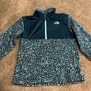 North face pull over fleece